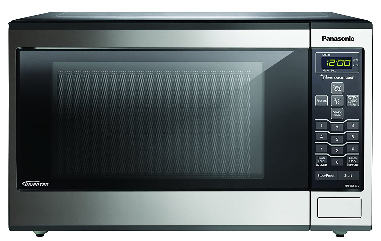 Ft Panasonic 1200w 1 2 Cu Countertop Microwave Oven With Inverter Technology Nn Sn661s Stainless