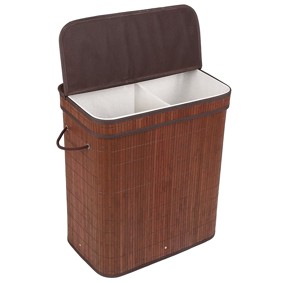 Hamper With Liner Homfa Bamboo Laundry Hamper With Cloth Liner And Removable