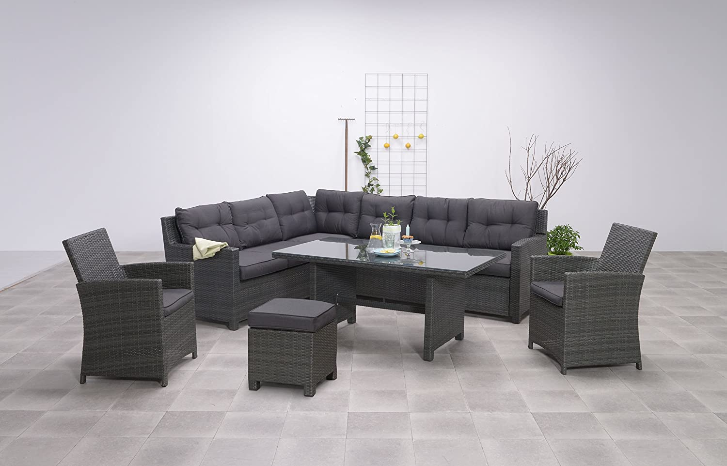 Rattanmöbel Gebraucht Hohe Dinning Poly Rattan Lounge Quotaboyne Quot Inkl Zwei