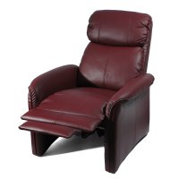 Home Leather Soft Pad Recliner 3 Positional Leather Cozy ...