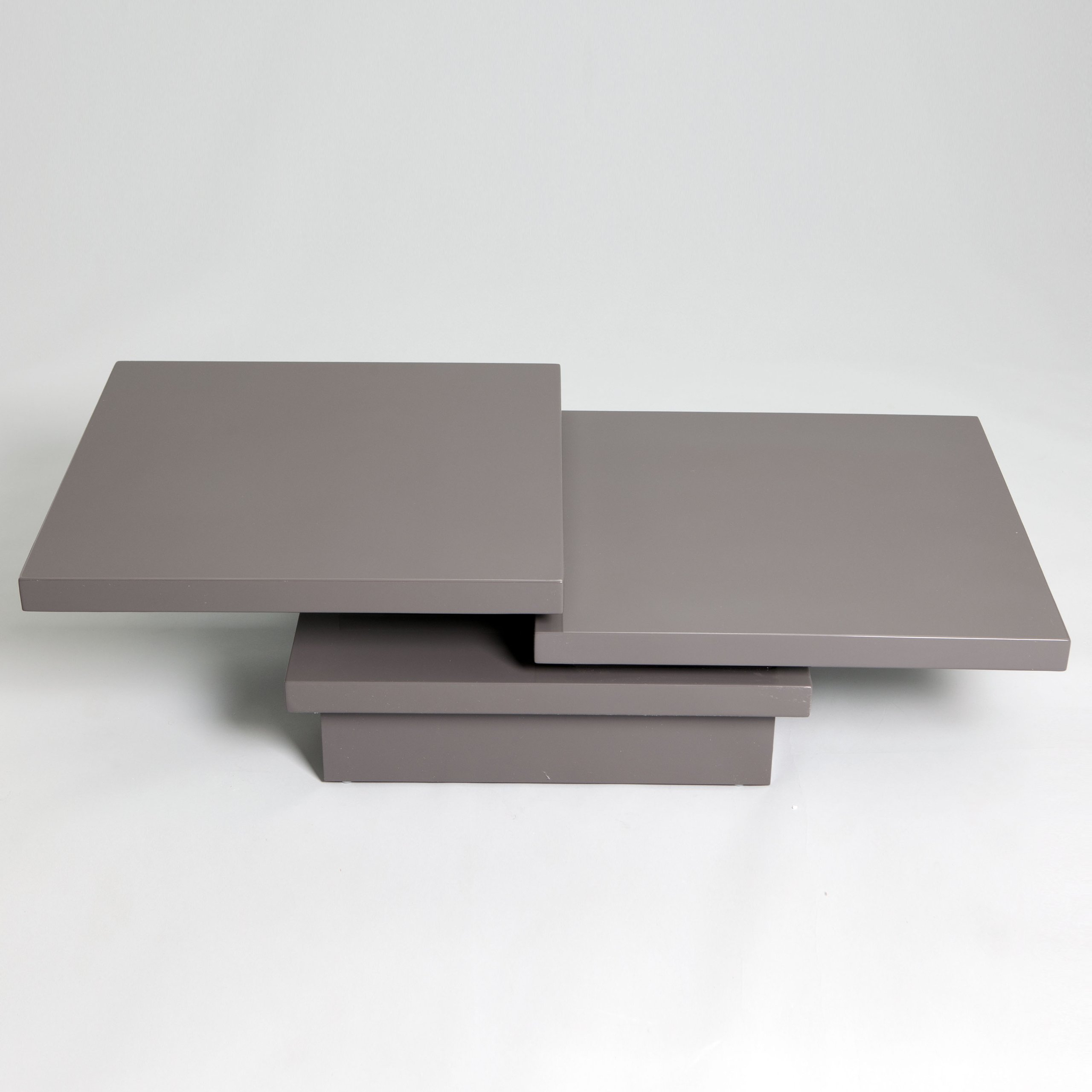 Grey Modern Coffee Table Keena Functional Swivel Top High Gloss Coffee Table Grey