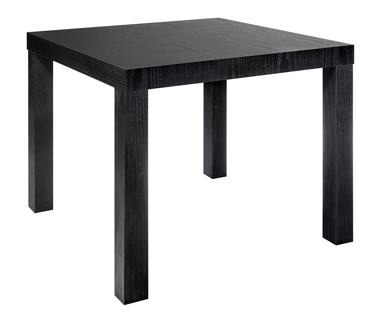 Black Modern Side Table Modern Style Black Wood Grain End Table Living Room
