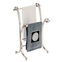 Elegant Free Standing Hand Towel Rack, Satin. NEW!