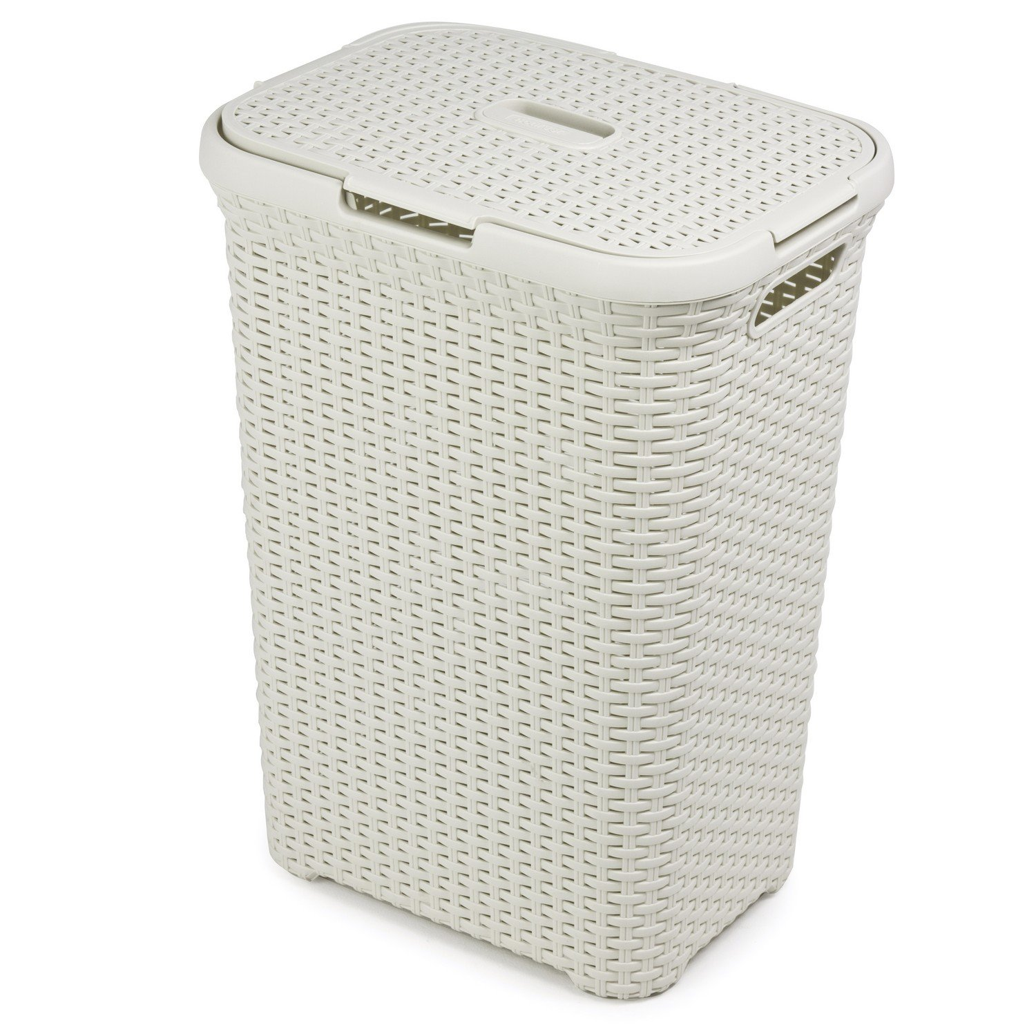 Elegant Laundry Hamper 60 Ltr Rattan Design Laundry Bin Washing Basket Bucket