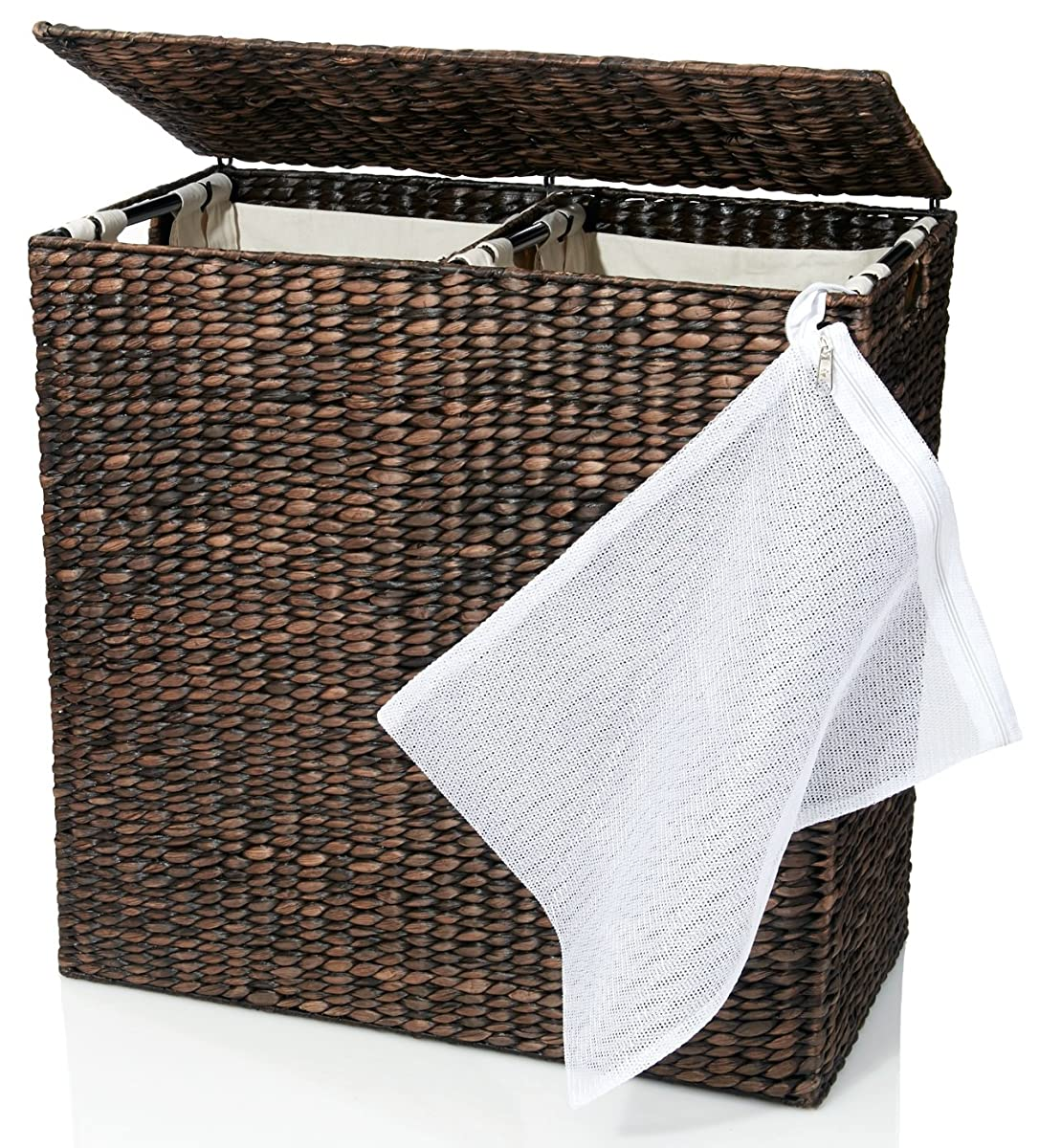 Luxury Laundry Hamper Designer Wicker Laundry Hamper With Divided Interior And