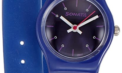 Sonata Analog Blue Dial Women's Watch