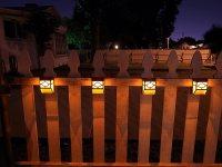 Upgrade Solar Powered Wall Mount Lights Landscape Garden ...