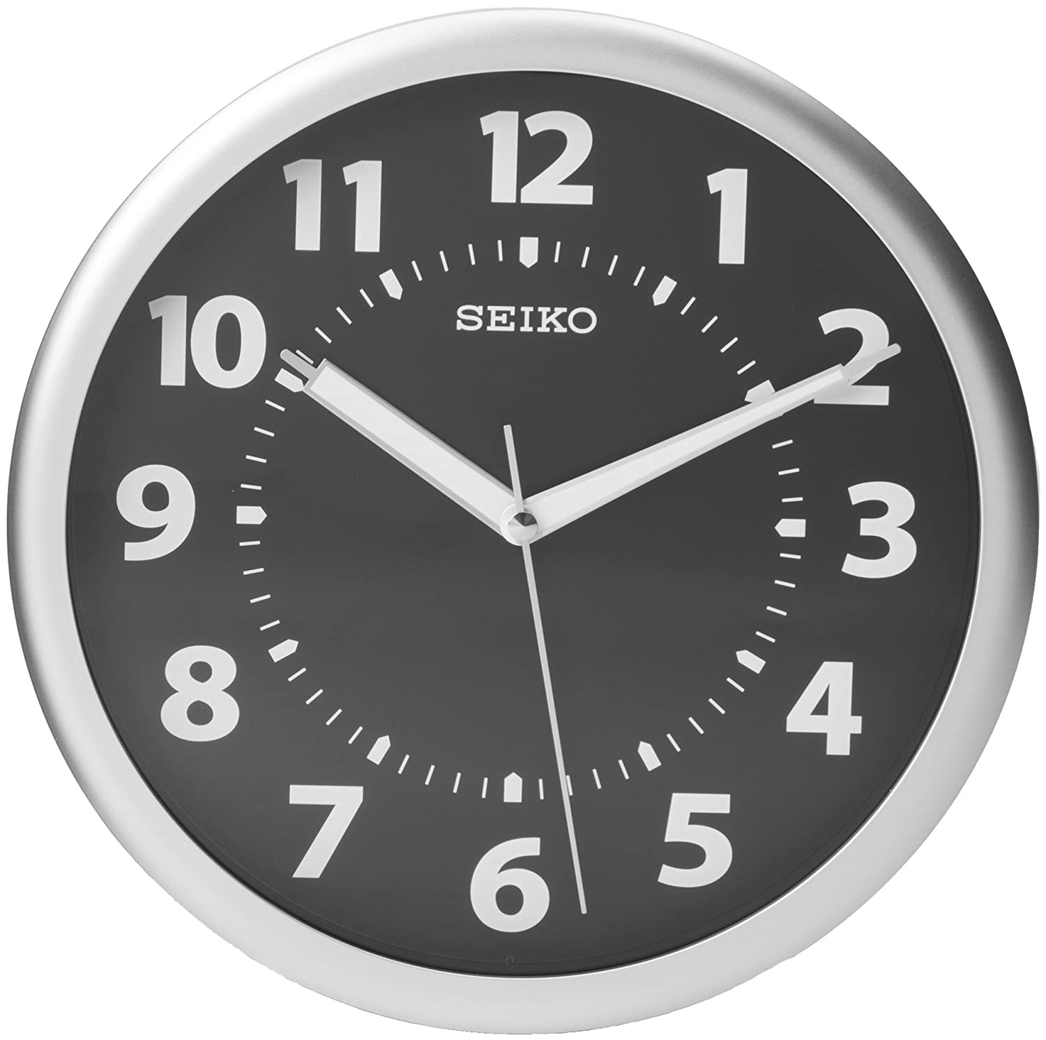 Atomic Clocks Amazon Silver Seiko Quartz Wall Clock Glow In Dark Luminous