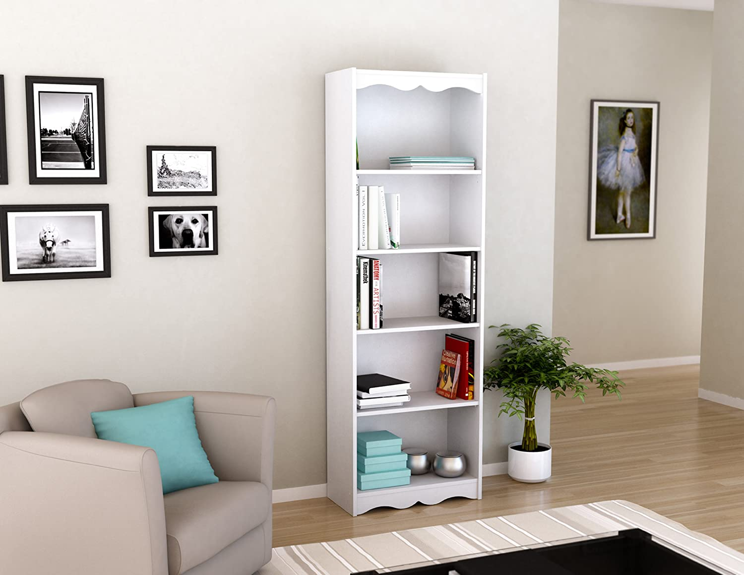 Space Saving Bookshelves Tall Bookcase 72 Inch Shelves White Beautiful Home