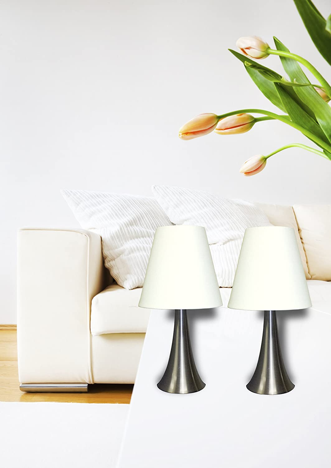 Modern Night Lamp For Bedroom Modern Night Stand Table Lamps Set 2 Touch Sensor Bedroom