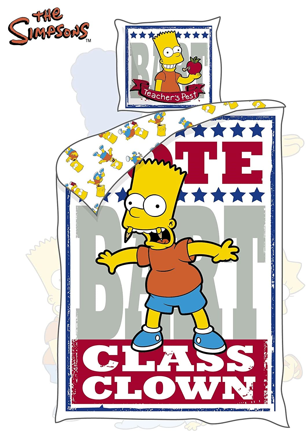 Original The Simpsons Bart Bettwäsche 140x200 Cm Neu