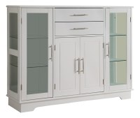 Kings Brand Kitchen Storage Cabinet Buffet With Glass ...