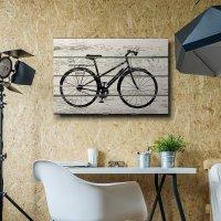 Bicycle/Bike Silhouette Artwork - Rustic Canvas Wall Art ...