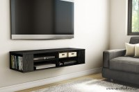 TV Floating Media Console Wood Wall Mounted Storage ...