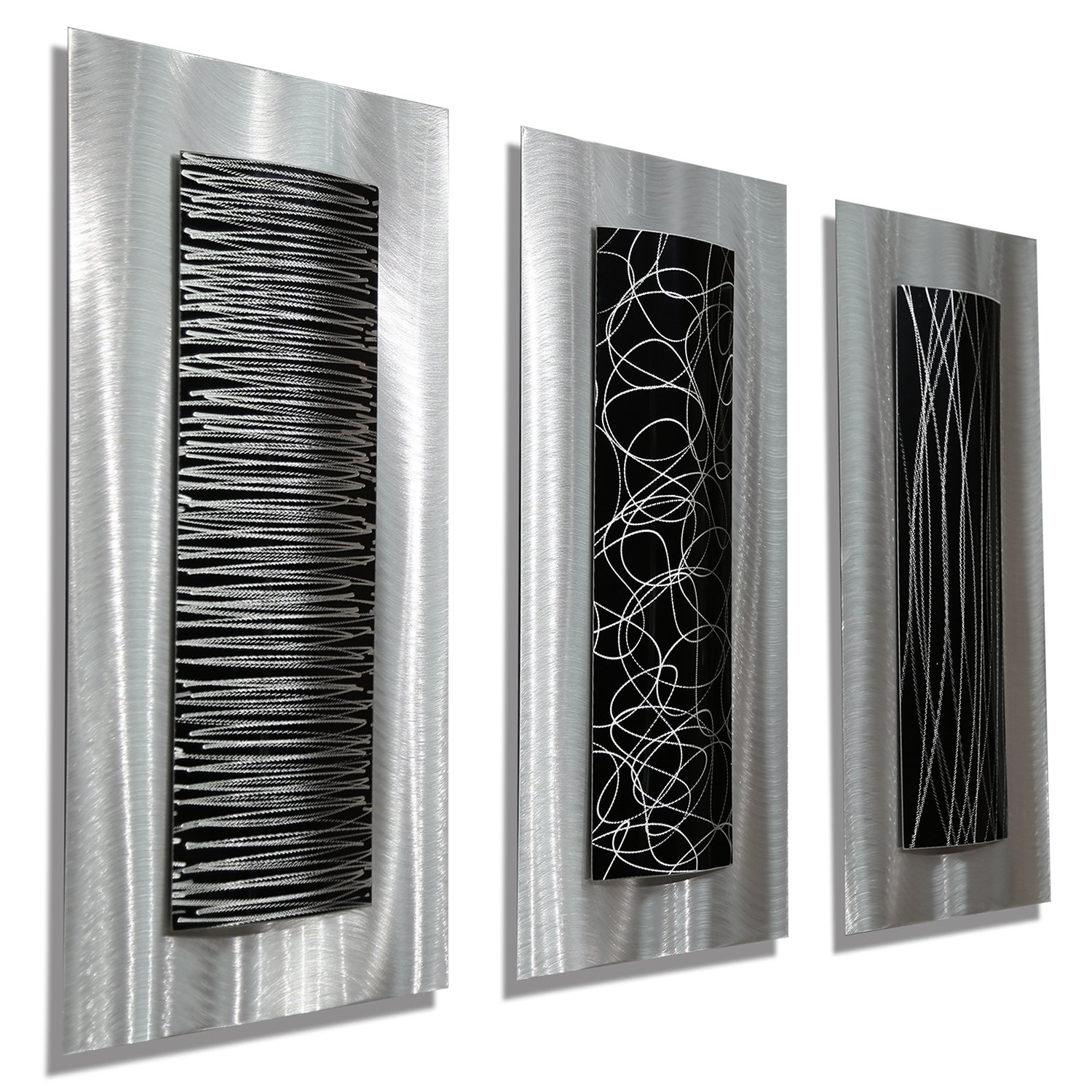 Modern Bathroom Wall Decor Abstract Metal Wall Art Panels Beautiful And Elegant