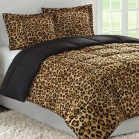 Discount comforter sets: 7 pc Leopard Print Patchwork ...