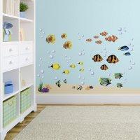 Under the Sea Decorative Peel and Stick Wall Art Sticker ...