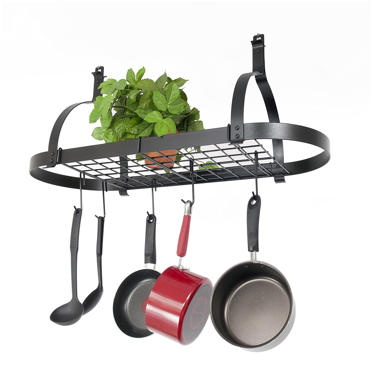 Wall Mounted Pots Decorative Wall Mounted Pot Rack For Kitchen Webnuggetz
