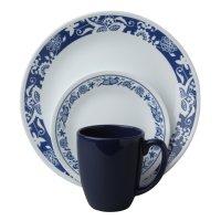 Corelle Livingware 16 Piece Dinnerware SET True Blue ...