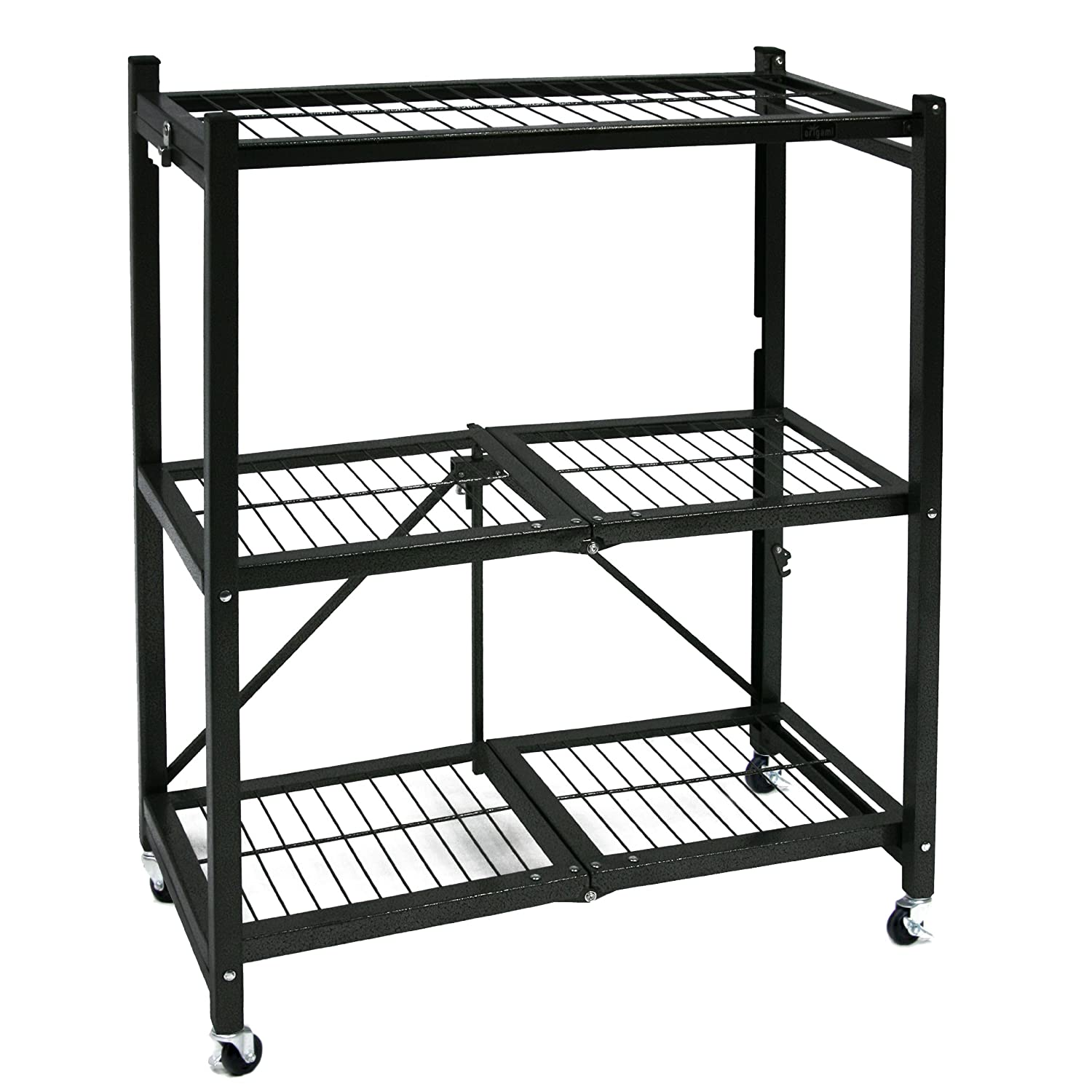 Gorilla Garage Racks Storage Rack Folding Shelves W Wheels Heavy Duty Shelf