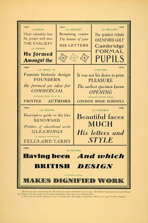 1927 typeface lithograph