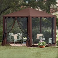 Gazebo Canopy Patio Tent Outdoor Furniture Deck Frame ...