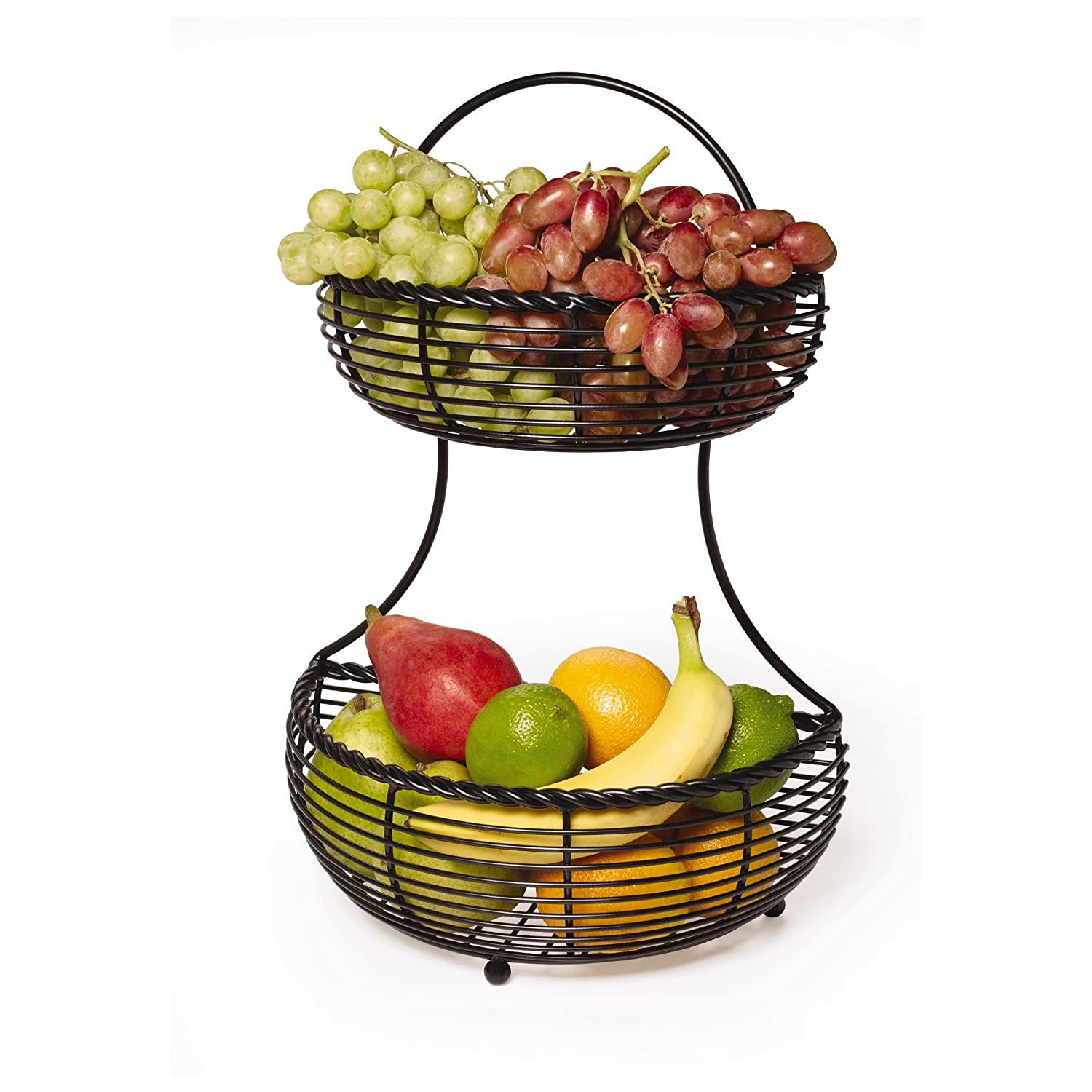Designer Fruit Basket 2 Tier Fruit Basket Countertop Kitchen Storage Holder