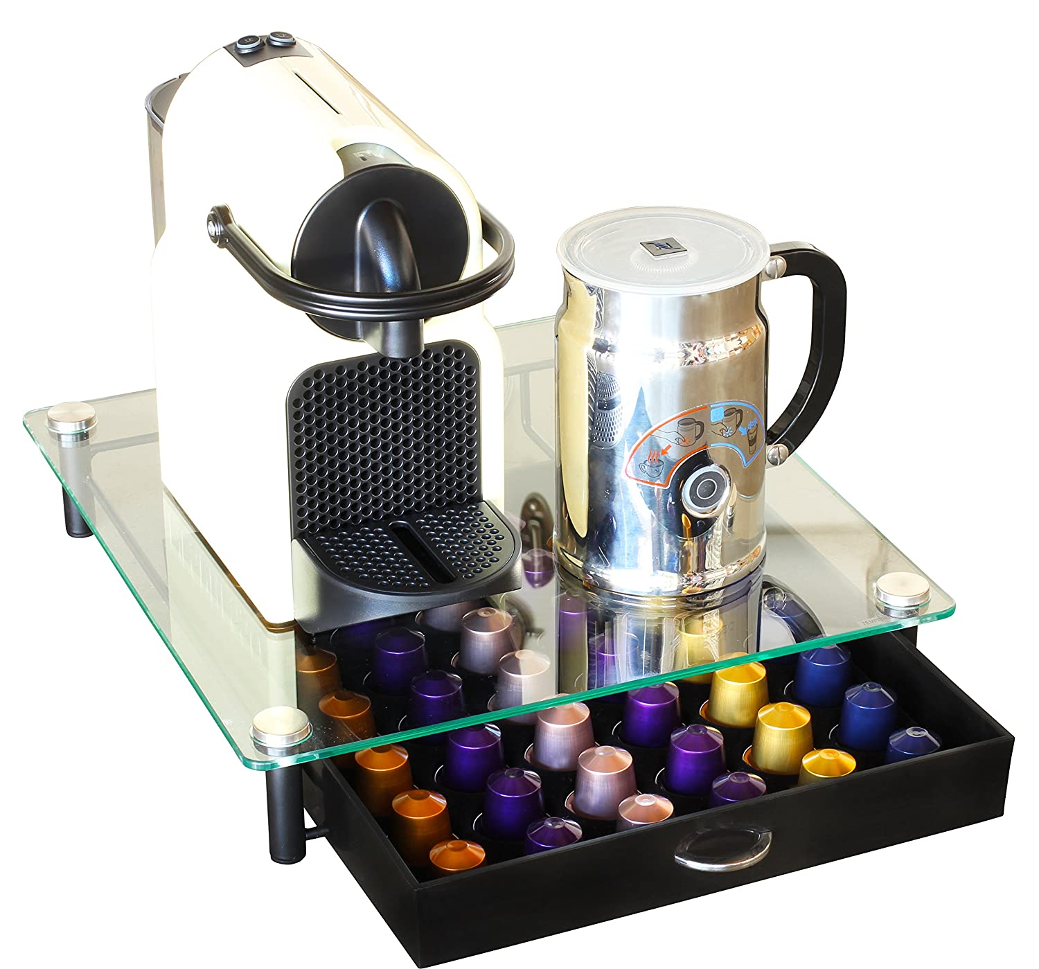 Porte Capsule Nespresso Ikea Decobros Coffee Pod Pack Storage Glass Drawer Holder