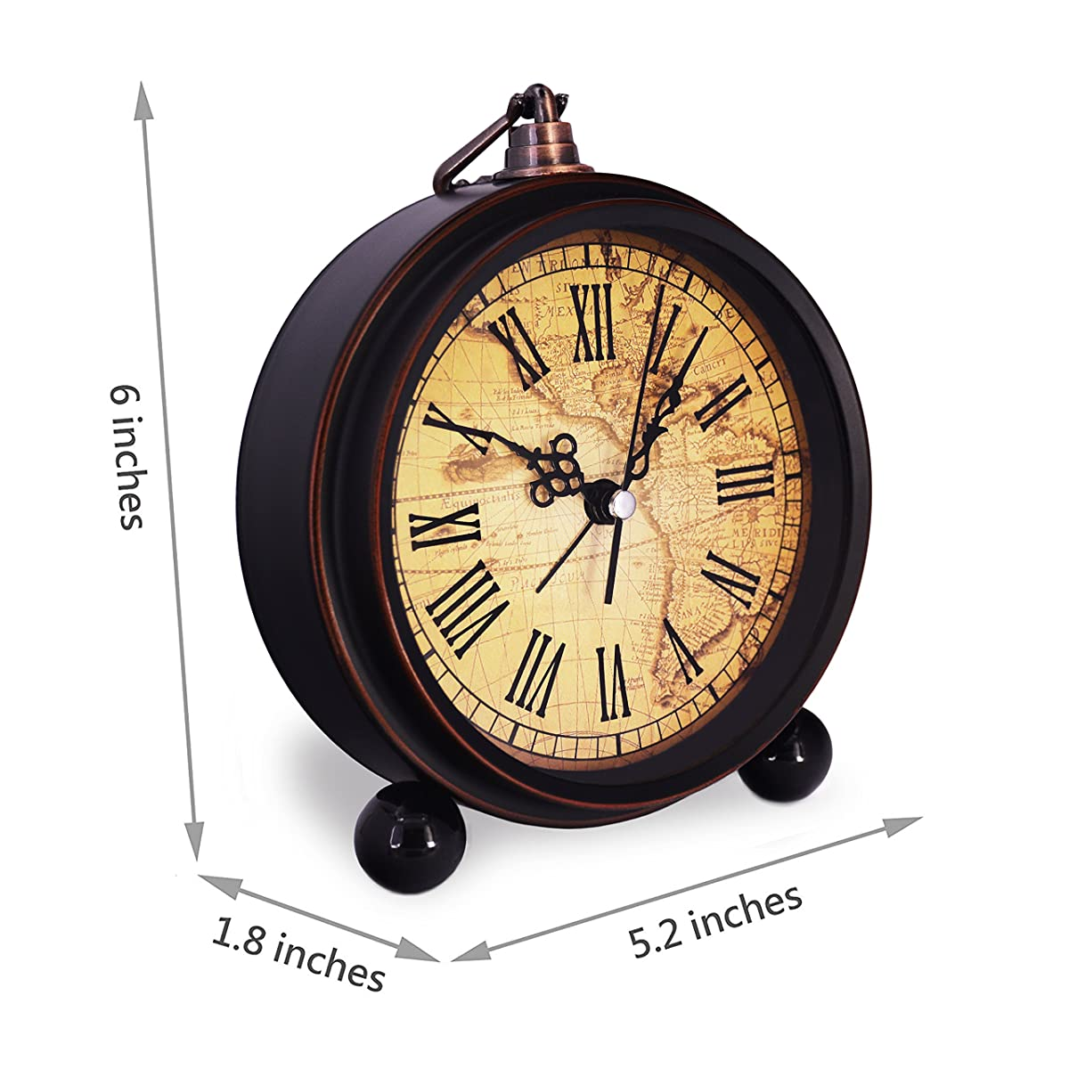 High End Alarm Clocks Vintage Retro Living Room Decorative Non Ticking Sweep