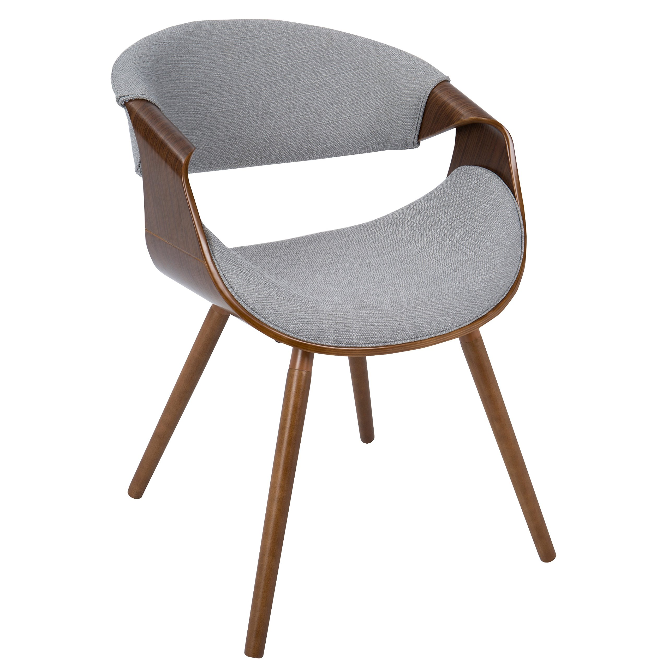 Modern Wooden Dining Room Chairs Mid Century Modern Retro Flair Legs Curved Back Accent
