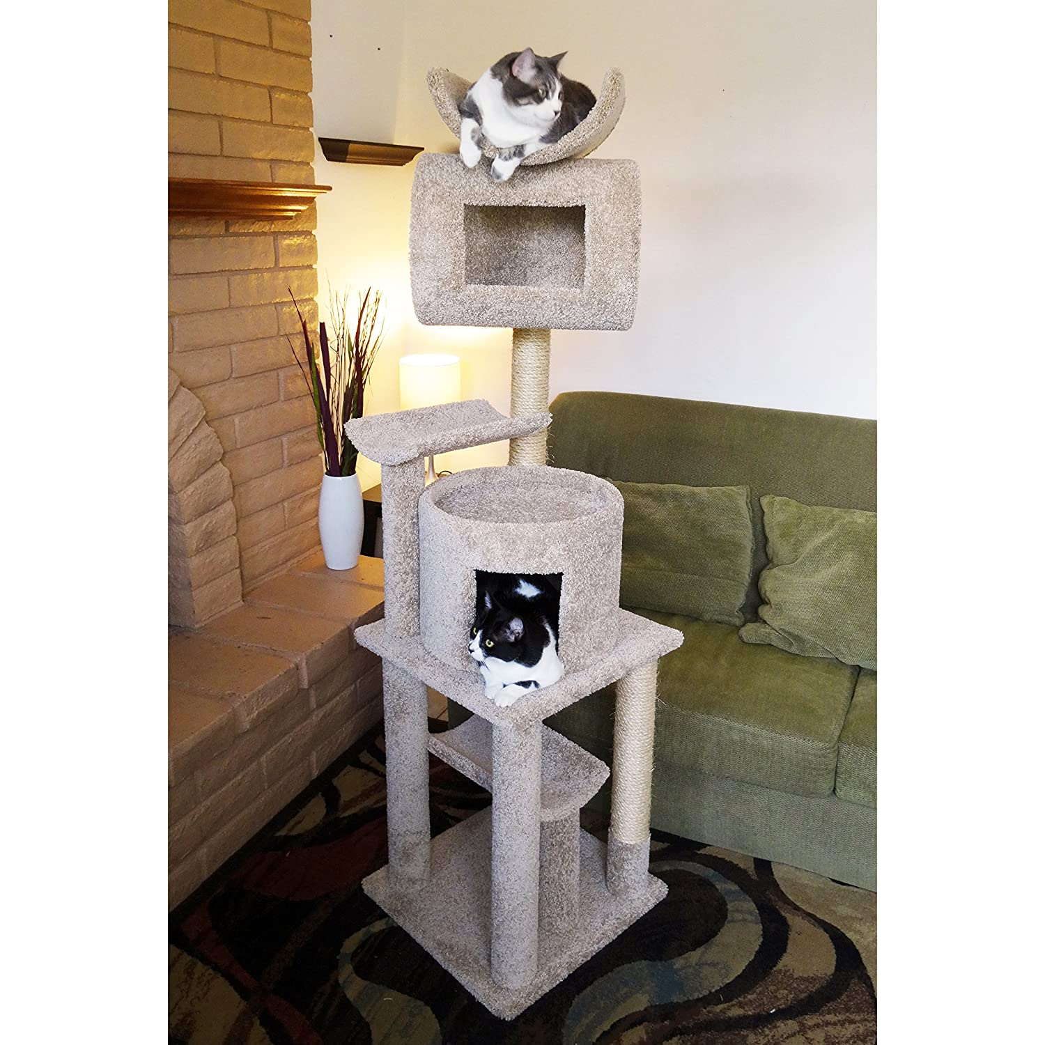 Cat Tree Houses Indoor Cat Furniture For Large Cats Roselawnlutheran