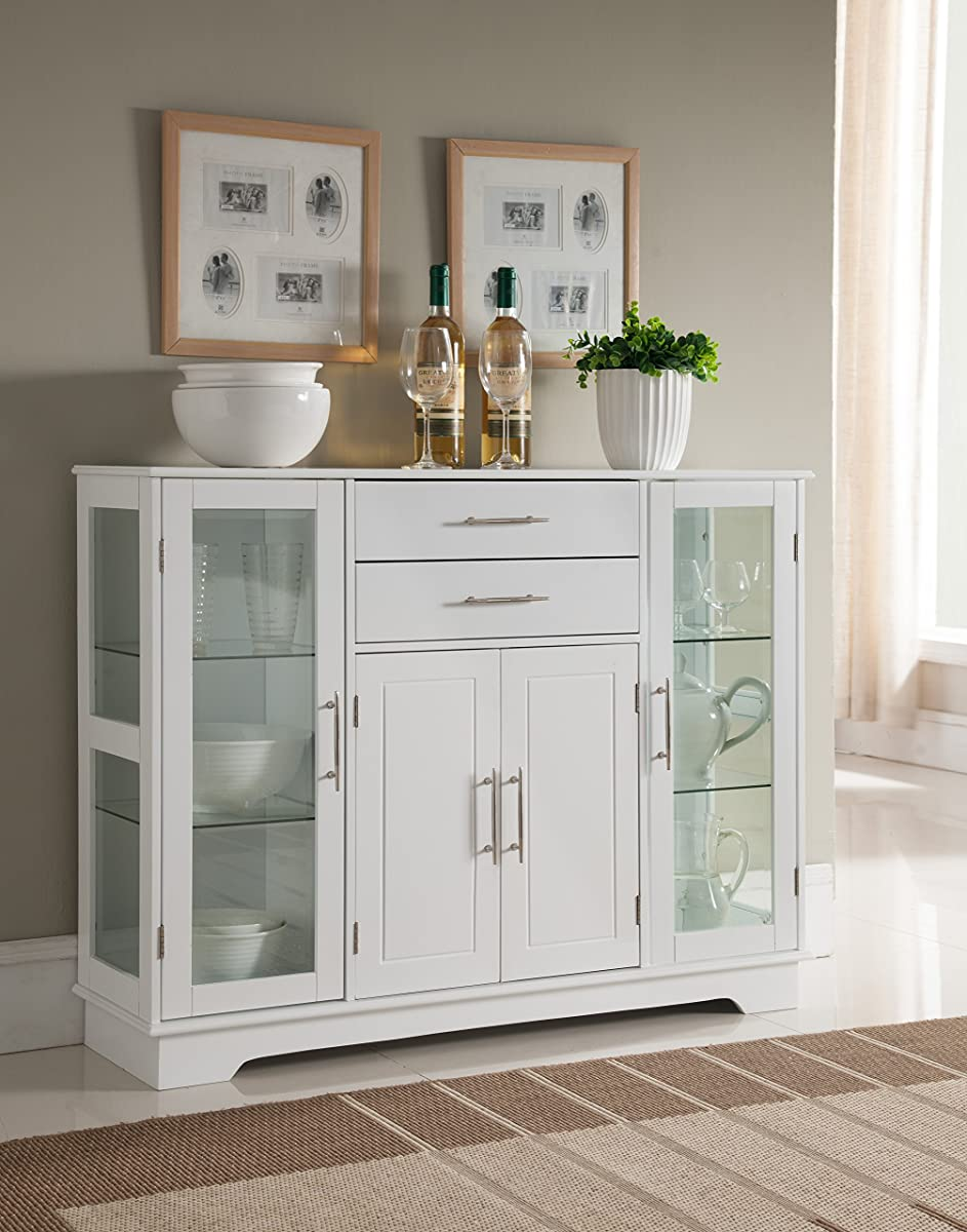 Kings Brand Kitchen Storage Cabinet Buffet With Glass