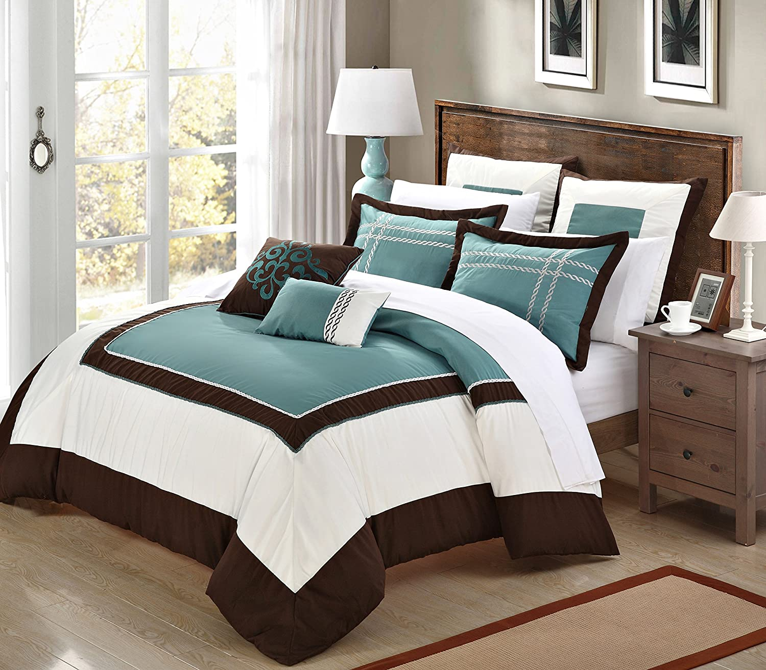Brown And Teal Bedroom Teal And Brown Bedding