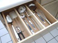 Axis Utensil Organizers Natural Wood Finish Kitchen Drawer ...