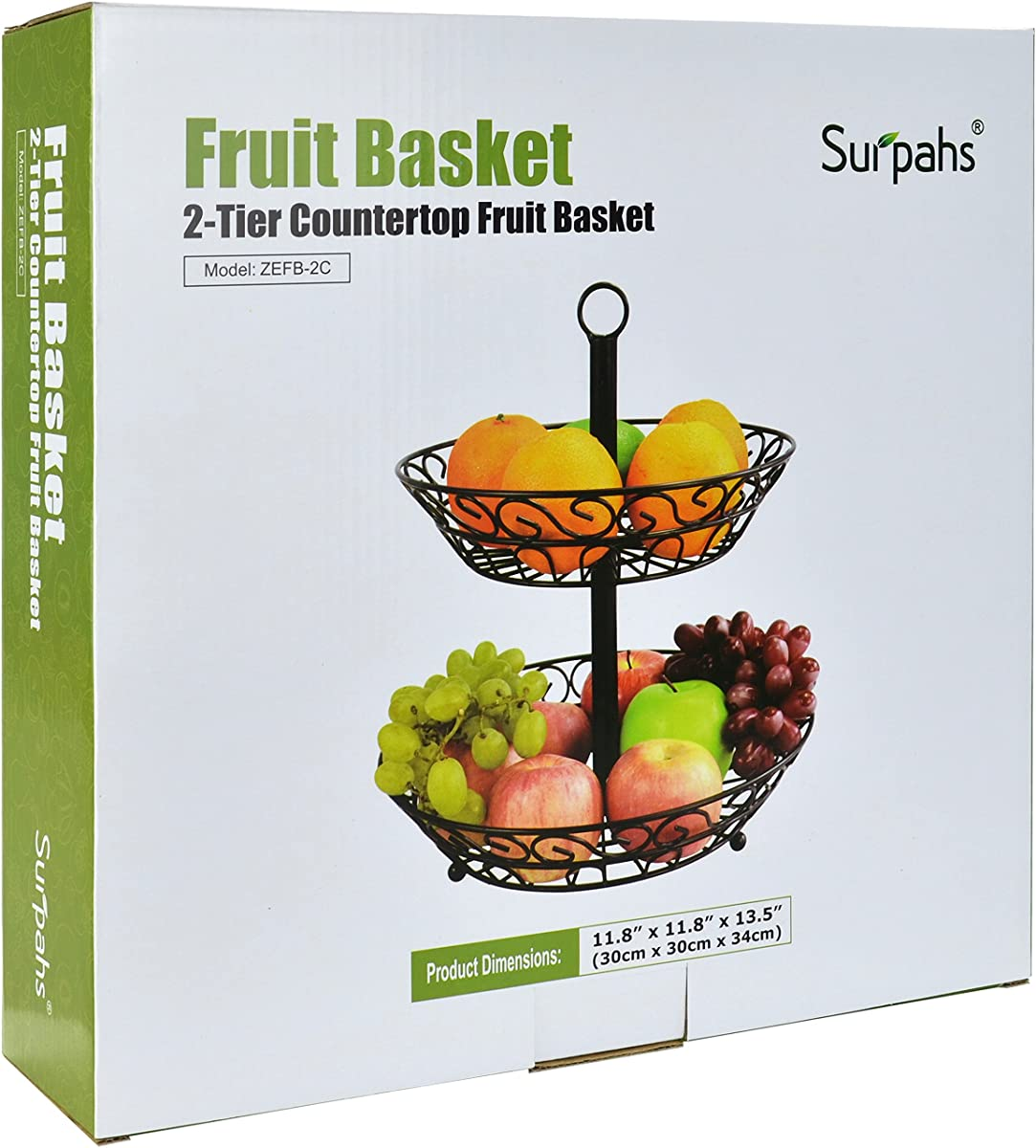 Table Top Fruit Basket Surpahs 2 Tier Countertop Fruit Basket Stand
