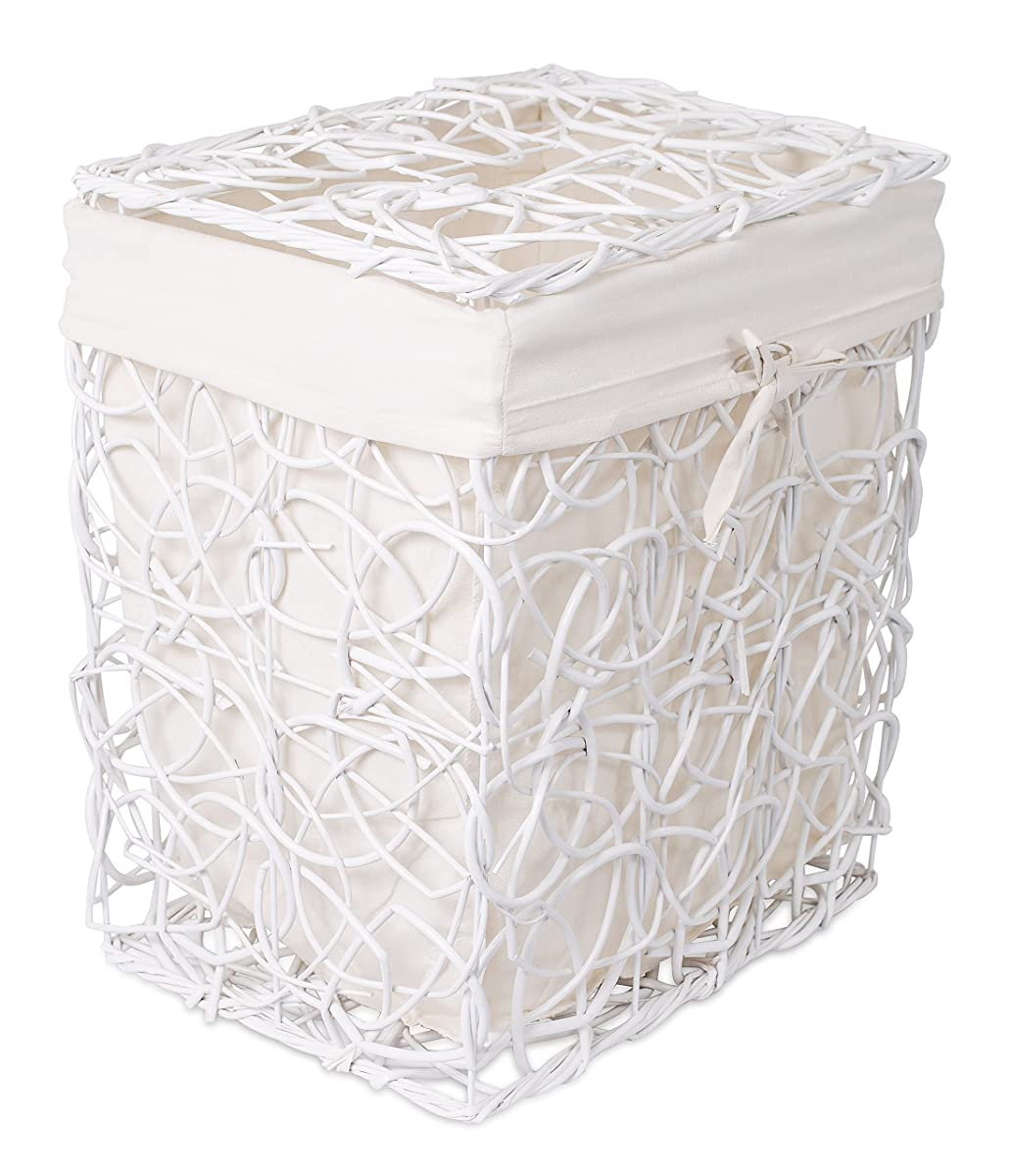 White Hamper With Liner Birdrock Home Decorative Willow Laundry Hamper With Liner