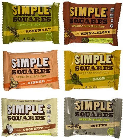 Simple Squares Organic Snack Bars Variety Pack of 12