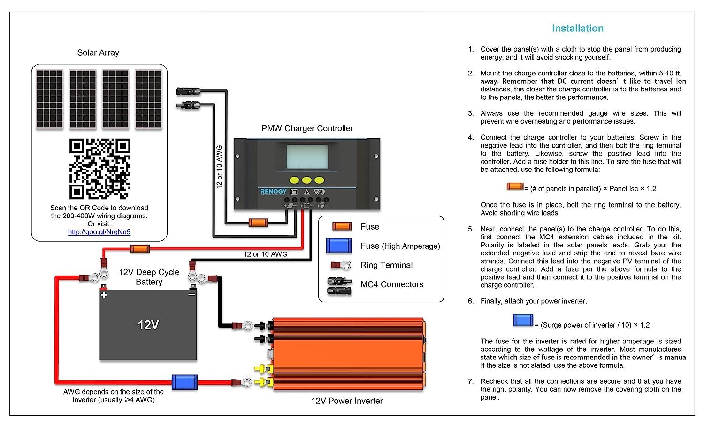 solar power wiring diagram parallel
