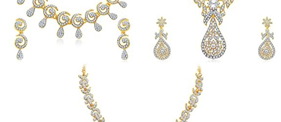 Sukkhi Glimmery 3 Pieces Golden Brass Choker Necklace Set Combo For Women @Rs. 549