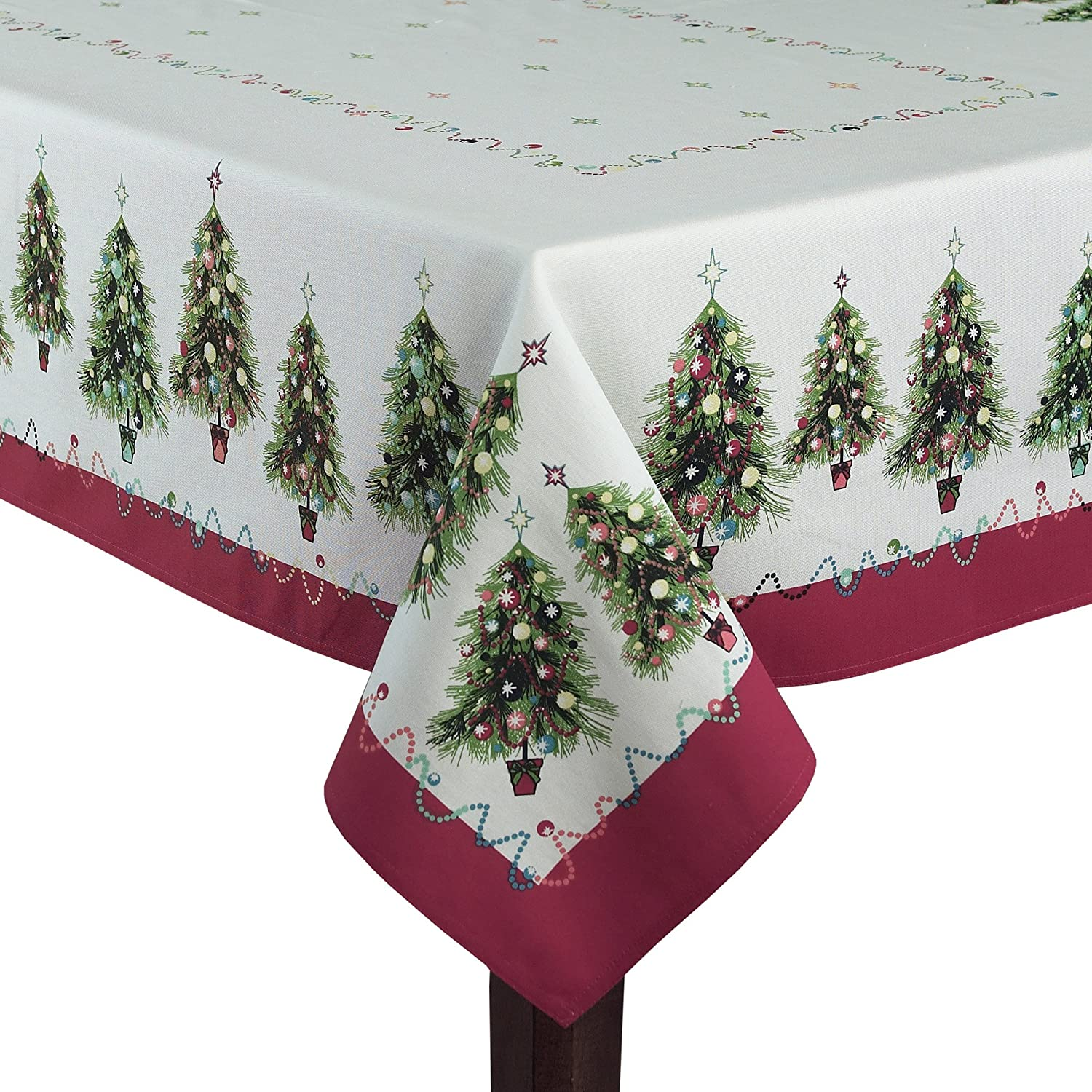 Tischdecken Weihnachten Christmas Trees Fabric Tablecloths | Christmas Wikii