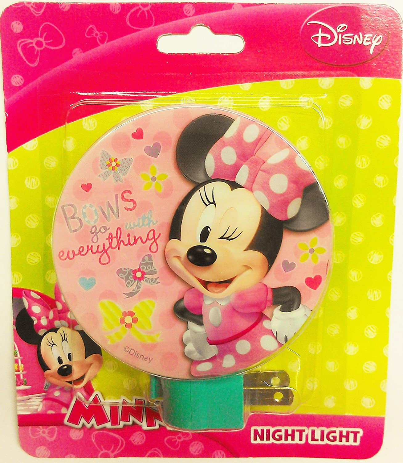 Boys Room Night Light Minnie Mouse Pink Nightlight Baby Nursery Girls Bedroom