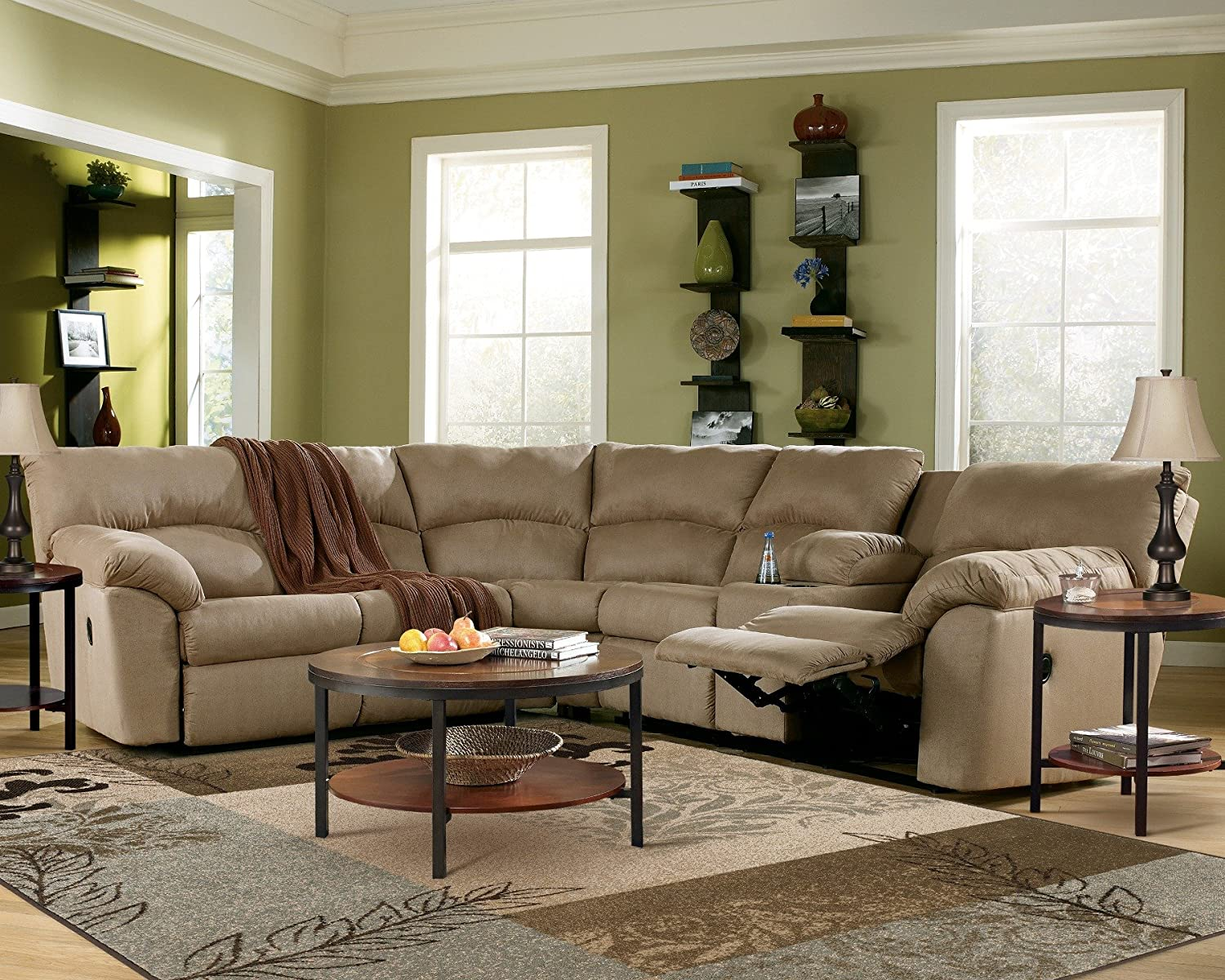 Amazon Sofa Deals Best Sectional Sofas With Recliners Reviews Amazon Mocha