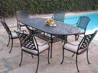 Kawaii Collection Outdoor Cast Aluminum Patio Furniture 7 ...