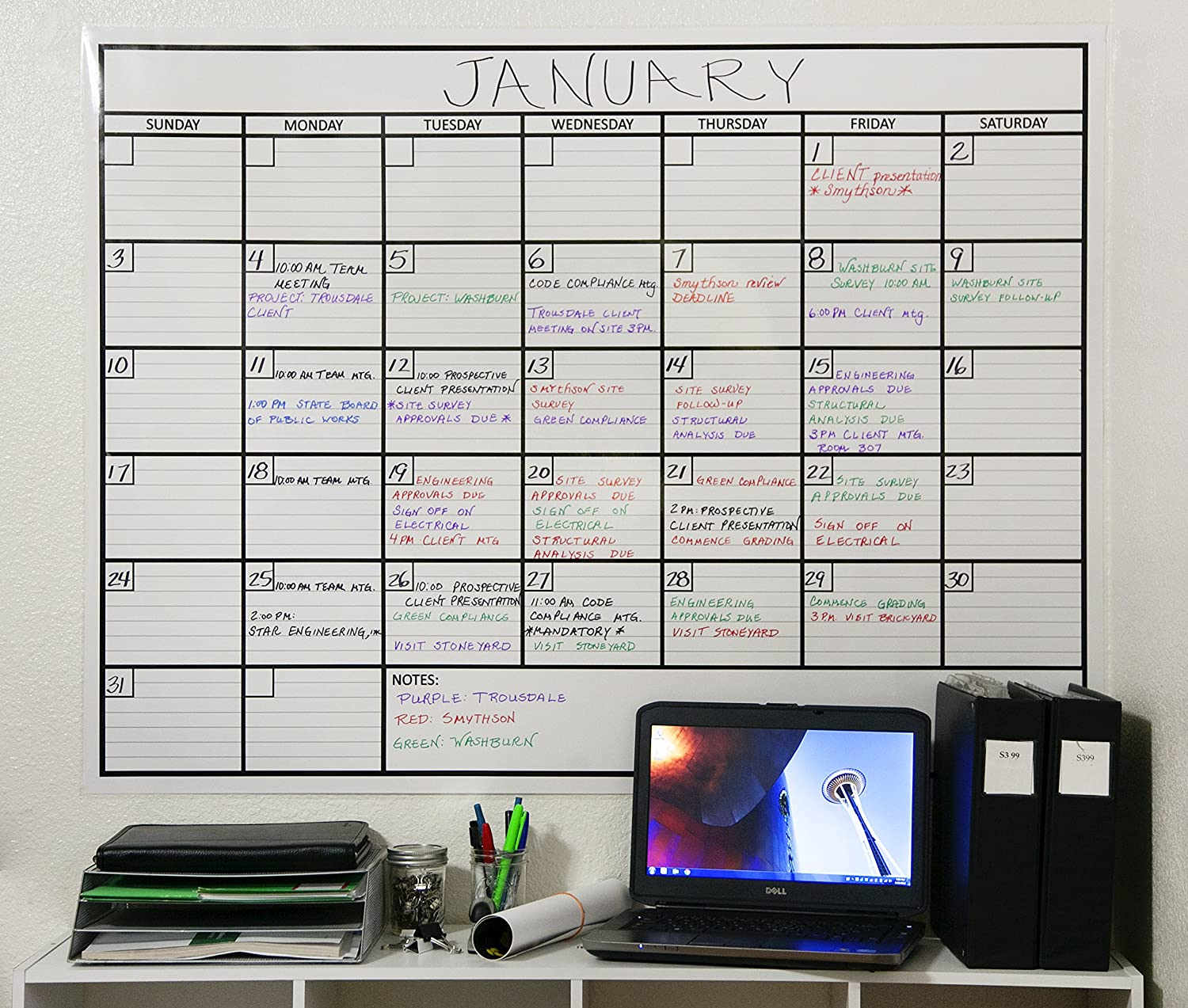 Calendar Ideas For Office : Home office organization ideas