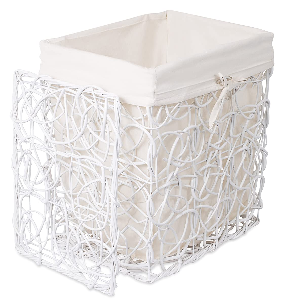 Decorative Laundry Baskets Birdrock Home Decorative Willow Laundry Hamper With Liner