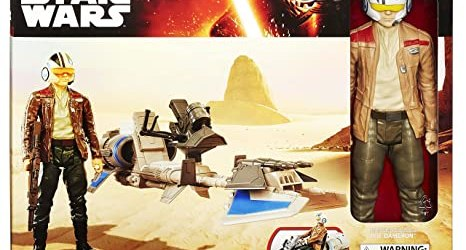 Starwars Starwars E7 Hero Series Figure and Vehicle - Finn and Speeder Bike