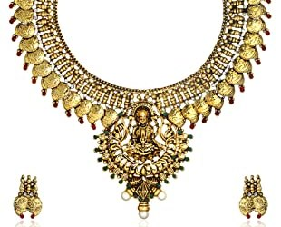 Zaveri Pearls Traditional Ginni Laxmi Haar Set