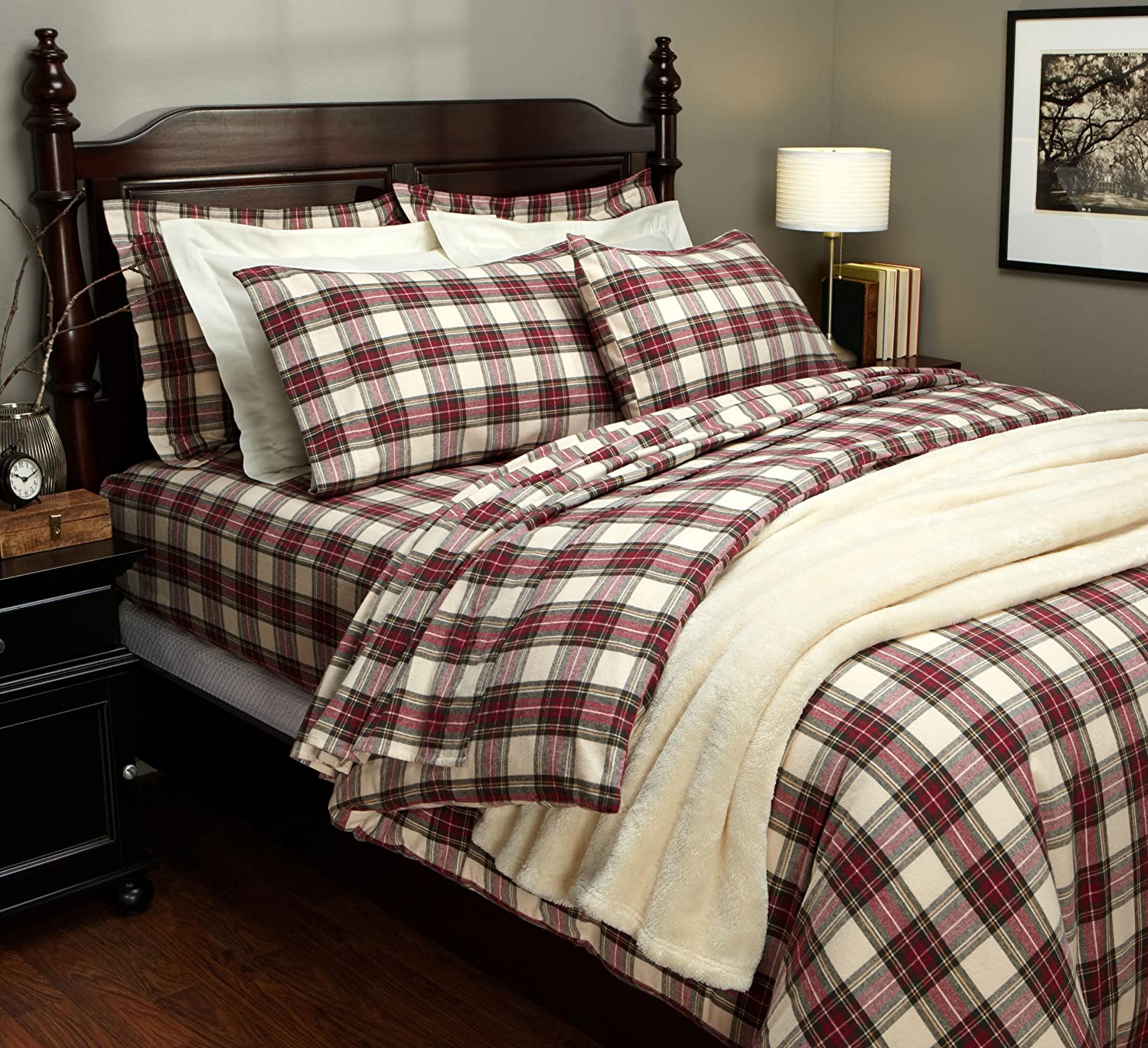Comforter Cover Full Red And Beige Cream Bedding Ease Bedding With Style