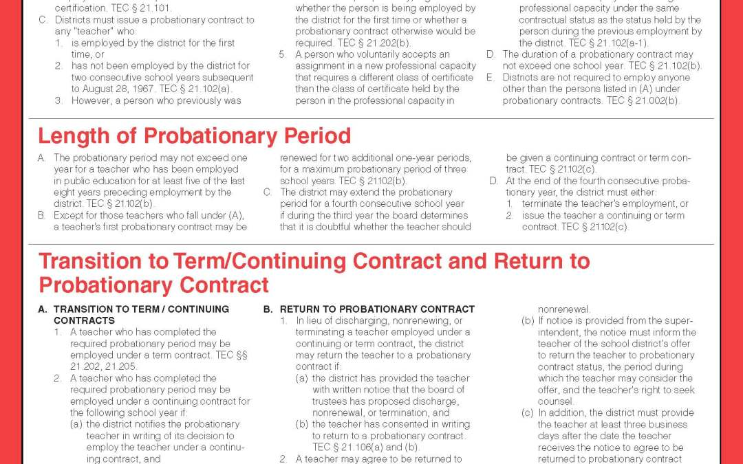 Probationary Contract Guide