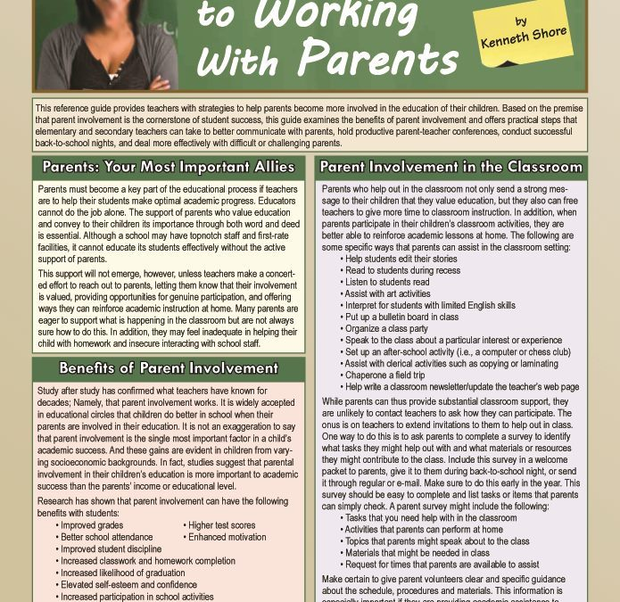 A Teacher's Guide to Working with Parents
